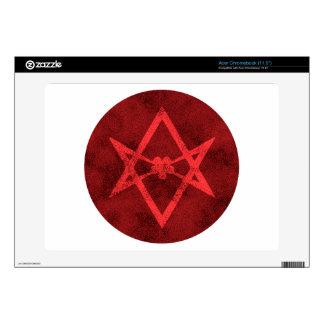 Hexagram Unicursal (rojo texturizado) Calcomanía Para Acer Chromebook