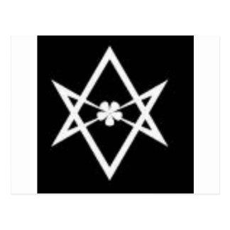 hexagram unicursal tarjeta postal