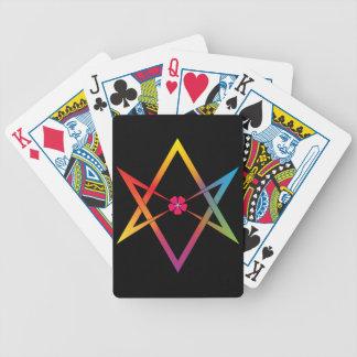 Hexagrama Unicursal Baralho Para Pôquer