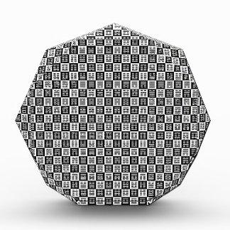 Hexagrams pattern acrylic award