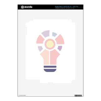 Hexahedrons Inside Idea Bulb Abstract Design Paste Decals For iPad 3