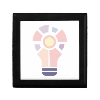 Hexahedrons Inside Idea Bulb Abstract Design Paste Gift Box