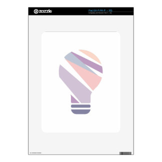 Hexahedrons Inside Idea Bulb Abstract Design Paste Skins For iPad