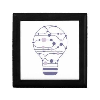 Hexahedrons Inside Idea Bulb Keepsake Box