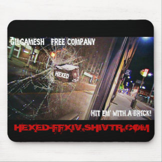 HEXED SLOGAN PAD MOUSE PAD