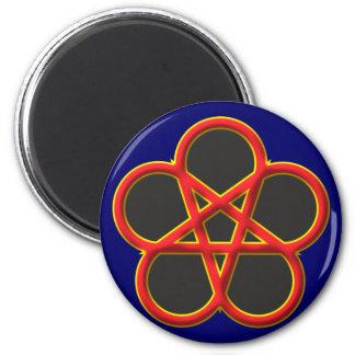 Hexenrosette rosette witch magnet