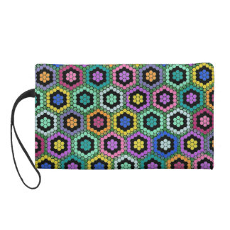 Hexes and Flowers Mini Bag Wristlet
