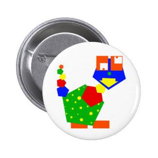 Hexie Monster Pinback Button