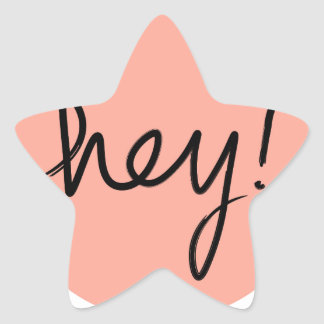 Hey! Abstract Modern Design Star Sticker