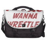 Hey AC Want to Wrestle!? Laptop Shoulder Bag