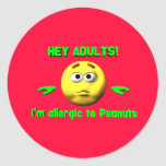 Hey Adults - Peanut Allergy Stickers