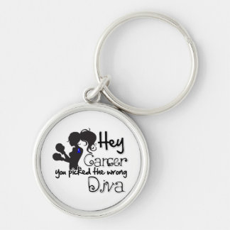 Hey Anal Cancer You Picked The Wrong Diva Keychains