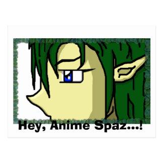 Hey, Anime Spaz...! Postcard