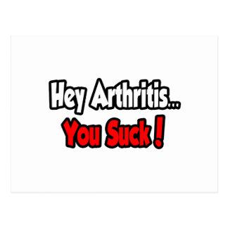 Hey Arthritis You Suck Postcards