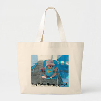 Hey Baby, Going my way? Large Tote Bag