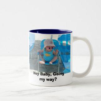Hey Baby, Going my way? Two-Tone Coffee Mug