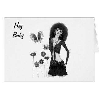 HEY BABY HAPPY 1st ANNIVERSARY Card