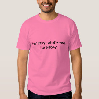 Hey baby, what's your paradigm? t-shirt