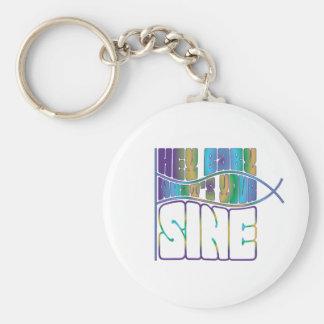 Hey Baby What's Your Sine Basic Round Button Keychain