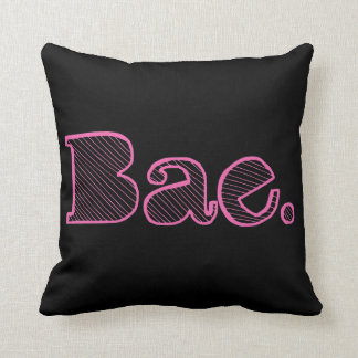 Hey Bae. girlfriend boyfriend slang Throw Pillow
