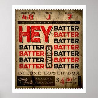 Hey Batter Batter Batter Poster