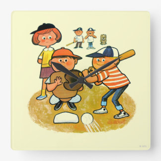 Hey Batter! Square Wall Clock
