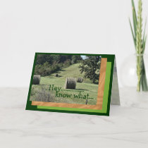 Hey Bday card2-customize any occasion Card