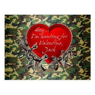 Hey...Be My Valentine, Jack! Postcard