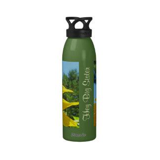Hey Big Sister water bottles Sunflower Garden