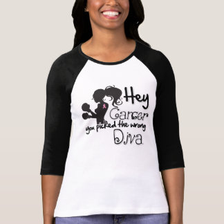Hey Breast Cancer You Picked The Wrong Diva Shirt