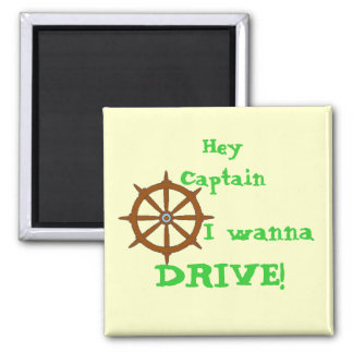 Hey Captain Sq. 2 Inch Square Magnet