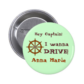 Hey Captain w name Pinback Buttons