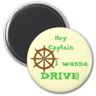 Hey Captain Yellow 2 Inch Round Magnet