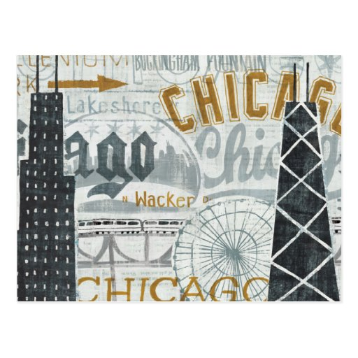 Hey Chicago Vintage Post Card