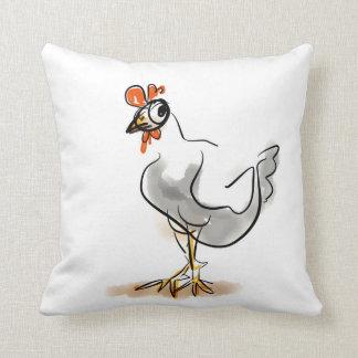 Hey, Chicken! Throw Pillow