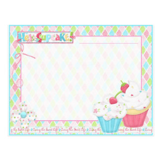 Hey Cupcake #2 - Recipe PostCard