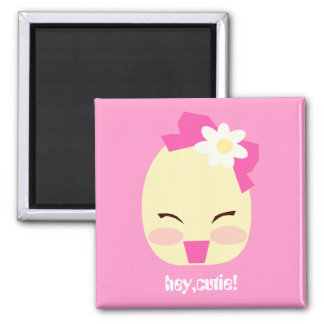 Hey Cutie! 2 Inch Square Magnet