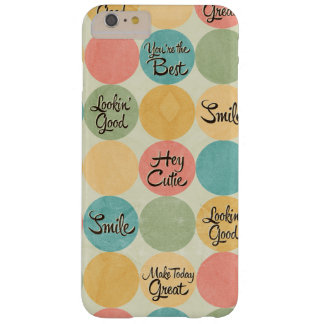 Hey Cutie Circle Pattern Barely There iPhone 6 Plus Case