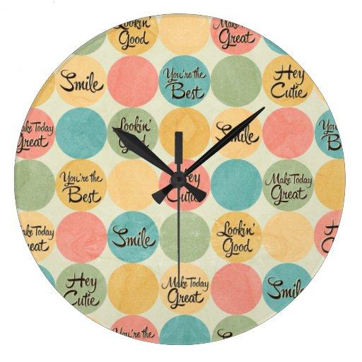 Hey Cutie Circle Pattern Clocks