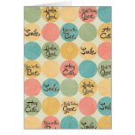 Hey Cutie Circle Pattern Greeting Card