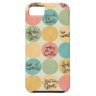 Hey Cutie Circle Pattern iPhone 5 Cover