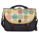 Hey Cutie Circle Pattern Laptop Commuter Bag