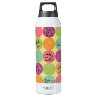 Hey Cutie Circle Pattern SIGG Thermo 0.5L Insulated Bottle