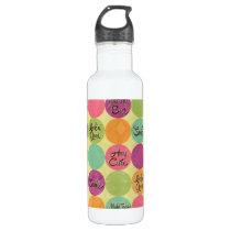 Hey Cutie Circle Pattern Water Bottle