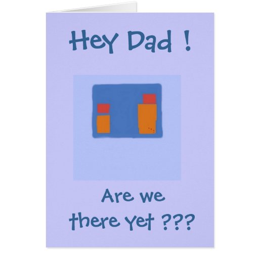 Hey Dad - father's day card