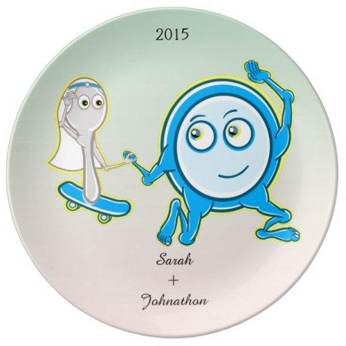 Hey Ddiidle Diddle Fun Cartoon Wedding Keepsake Porcelain Plate