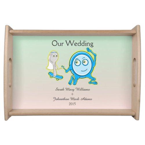 Hey Ddiidle Diddle Fun Cartoon Wedding Keepsake Serving Platters