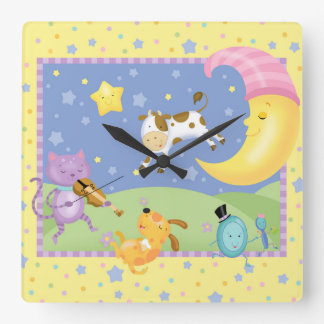 Hey Diddle Diddle Baby Wall Clock