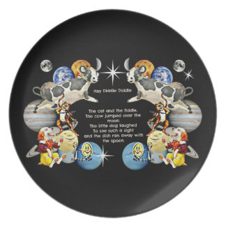 Hey Diddle Diddle child's plate by Whimzwhirled