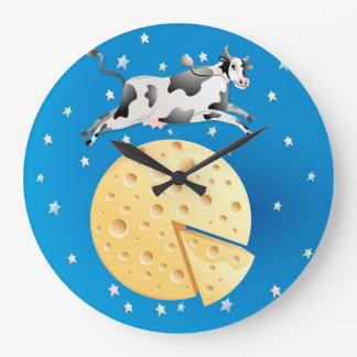 Hey Diddle Diddle, Cow Jumped Over the Moon Clock